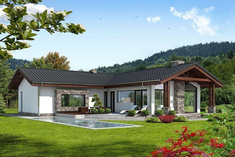 Одноэтажные кирпичные дома
